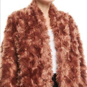 Vince faux fur plush jacket NWT